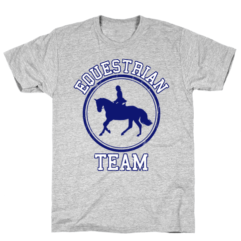 Equestrian Team (Blue) Mens T-Shirt