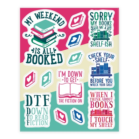 Book Pun Sticker and Decal Sheet
