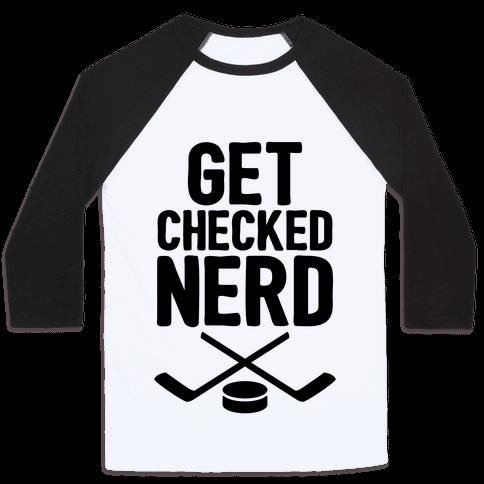 Get Checked Nerd Baseball Tee