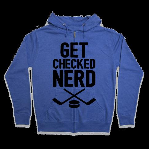 Get Checked Nerd Zip Hoodie