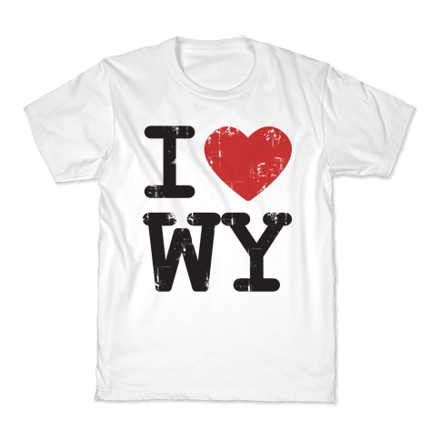 I Love Wyoming Kids T-Shirt