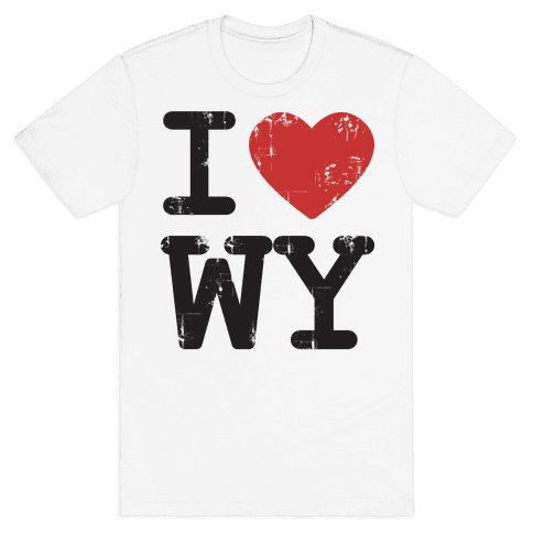 I Love Wyoming Mens T-Shirt