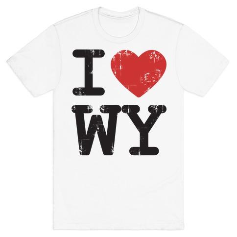 I Love Wyoming Mens T-Shirt