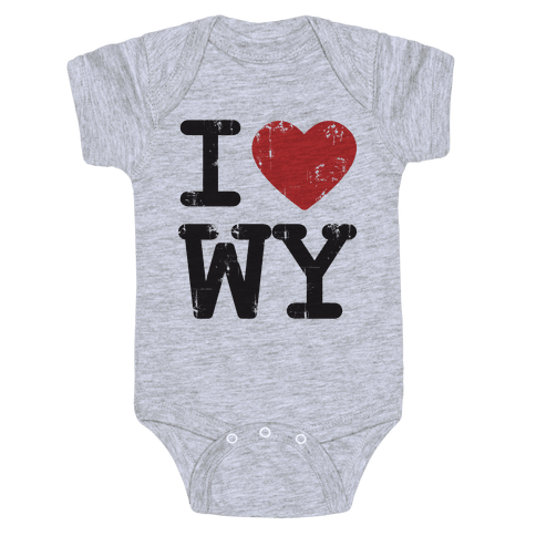 I Love Wyoming Baby Onesy