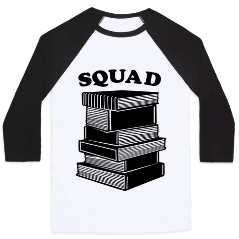Book Squad Baseball Tee