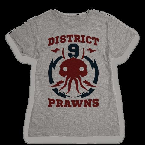 District 9 Prawns (Sports Logo Parody) Womens T-Shirt