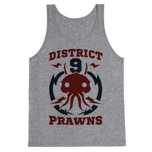 District 9 Prawns (Sports Logo Parody) Tank Top