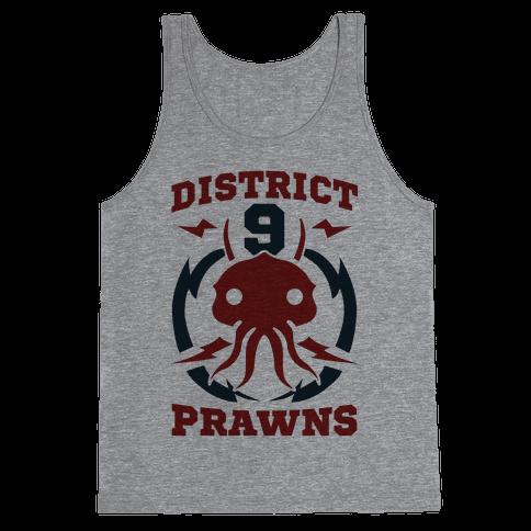 District 9 Prawns (Sports Logo Parody) Tank Top