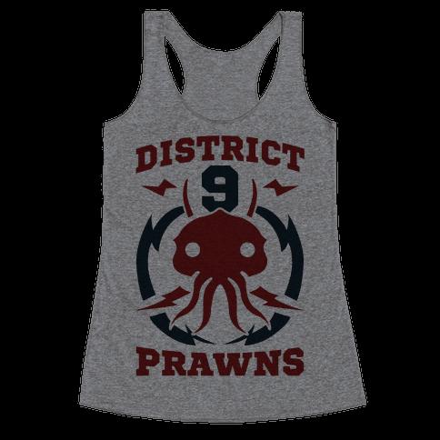 District 9 Prawns (Sports Logo Parody) Racerback Tank Top