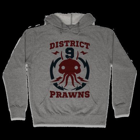 District 9 Prawns (Sports Logo Parody) Hooded Sweatshirt