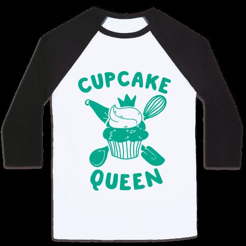 Cupcake Queen Baseball Tee