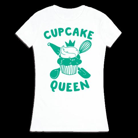 Cupcake Queen Womens T-Shirt