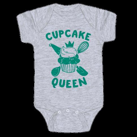 Cupcake Queen Baby Onesy