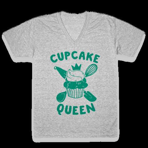 Cupcake Queen V-Neck Tee Shirt