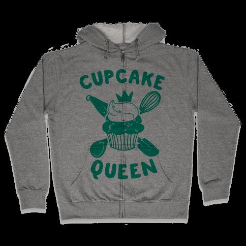 Cupcake Queen Zip Hoodie