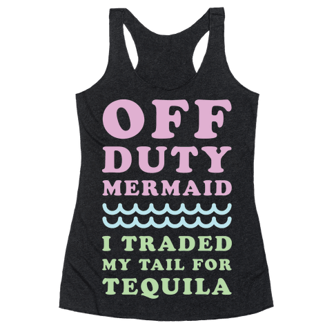 Off Duty Mermaid Racerback Tank Top