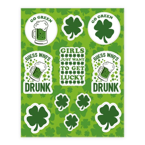 Saint Patrick's Day Sticker and Decal Sheet