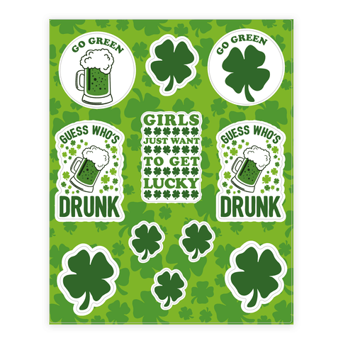 Saint Patrick's Day  Sticker/Decal Sheet