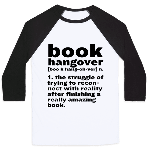Book Hangover Definition Baseball Tee