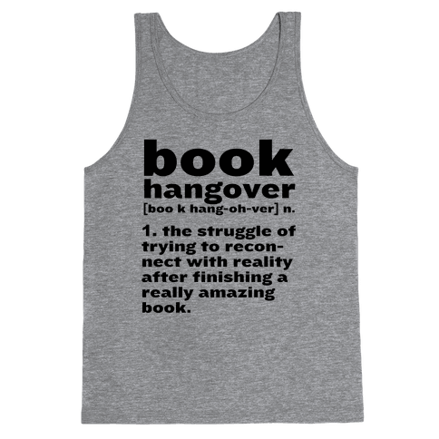 Book Hangover Definition Tank Top