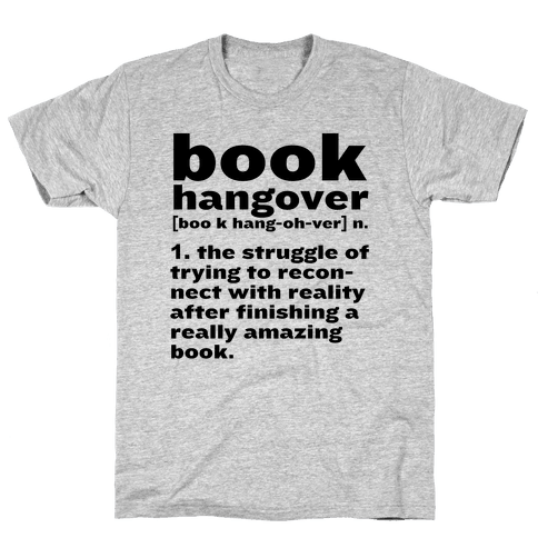 Book Hangover Definition Mens T-Shirt
