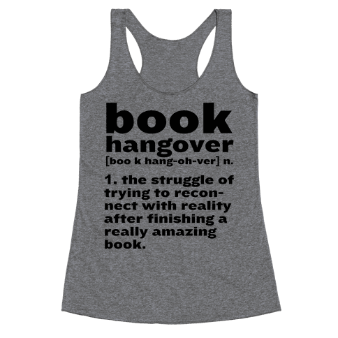 Book Hangover Definition Racerback Tank Top