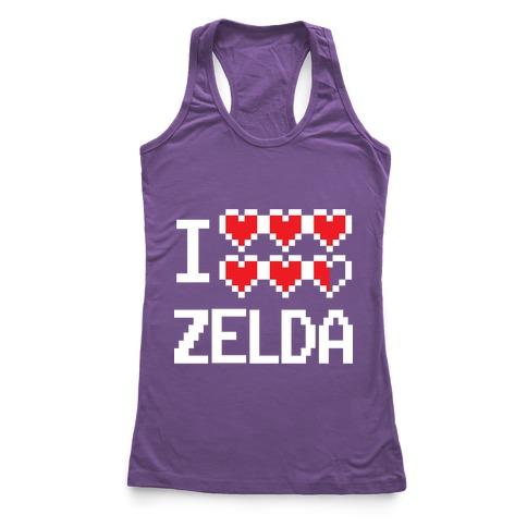 I Heart Zelda Racerback Tank Top
