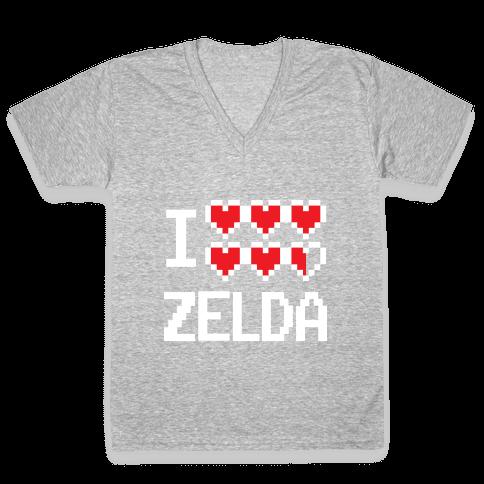 I Heart Zelda V-Neck Tee Shirt