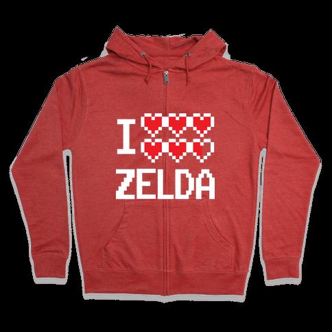 I Heart Zelda Zip Hoodie
