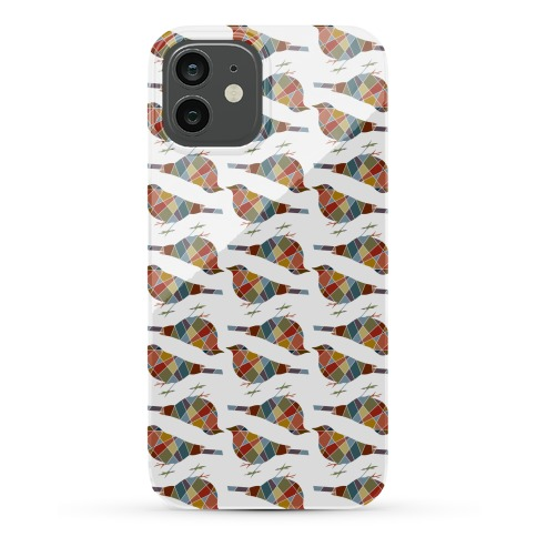 Mosaic Bird Pattern Phone Case