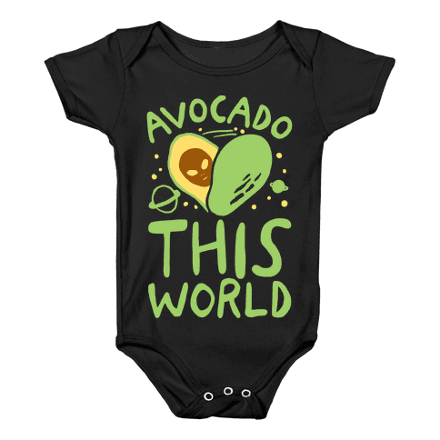 Avocado This World Baby Onesy
