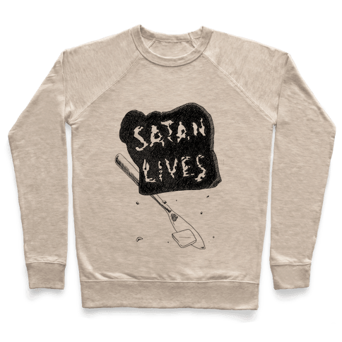 Satanic Toast, Satan Lives Breakfast Pullover