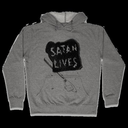 Satanic Toast, Satan Lives Breakfast Hooded Sweatshirt