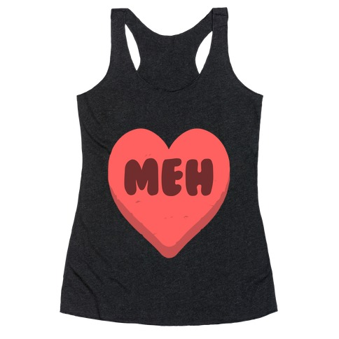 Valentine's Day Heart Meh Racerback Tank Top