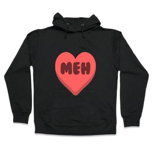 Valentine's Day Heart Meh Hooded Sweatshirt