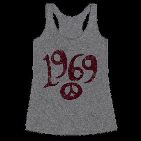 1969 Woodstock (Vintage) Racerback Tank Top