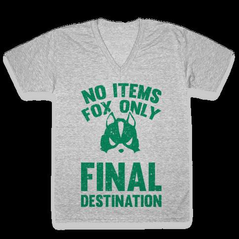 No Items Fox Only Final Destination V-Neck Tee Shirt