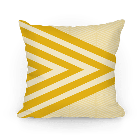Large Yellow Geometric Diamond Pattern Pillow
