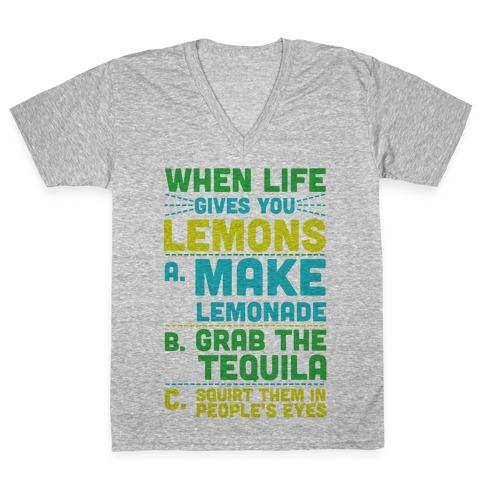 When Life Gives You Lemons V-Neck Tee Shirt