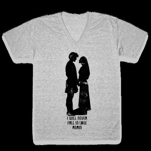 I Will Never Love Again V-Neck Tee Shirt