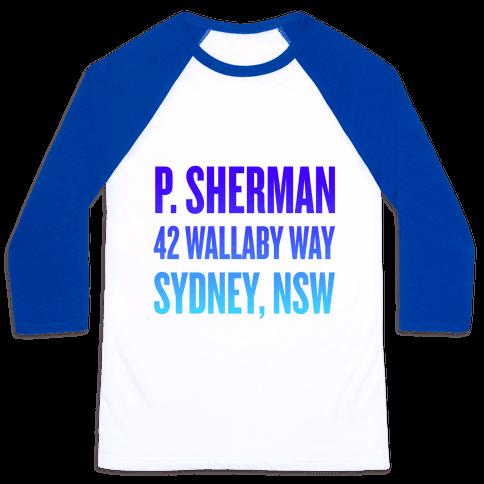 P. Sherman 42 Wallaby Way Sydney Baseball Tee