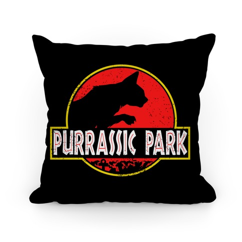 Purrassic Park Pillow