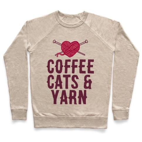 Coffee, Cats and Yarn Pullover