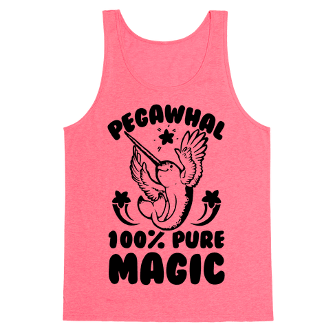 PegaWhal: 100% Pure Magic Tank Top