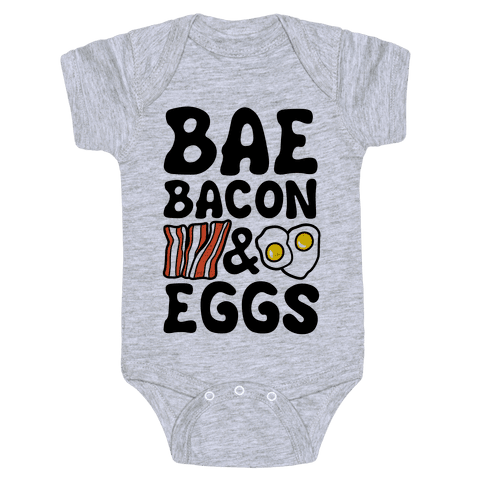 Bae Bacon and Eggs Baby Onesy
