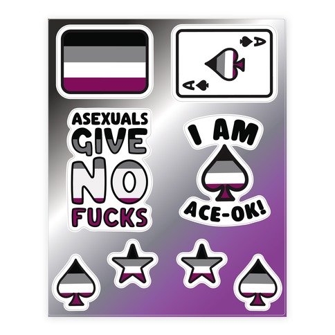 Asexual Pride Sticker and Decal Sheet