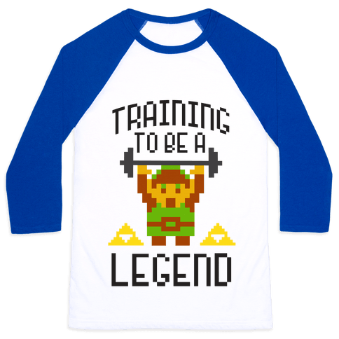 Training To Be A Legend Baseball Tee