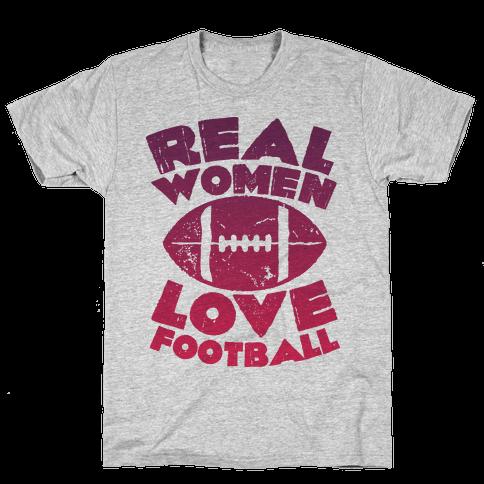 Real Women Love Football Mens T-Shirt