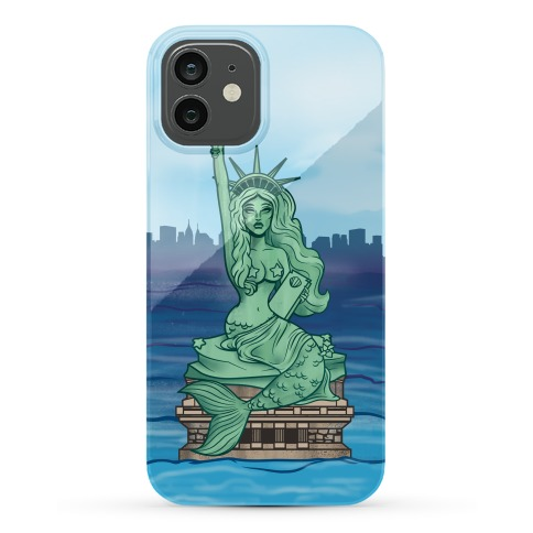 Statue Of Liberty Mermaid Phone Case