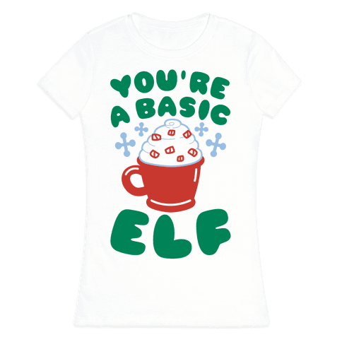 Basic Elf Womens T-Shirt
